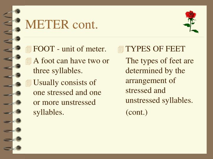 FOOT - unit of meter.