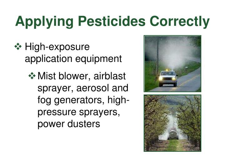 Applying Pesticides Correctly