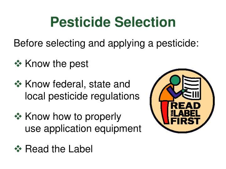 Pesticide Selection