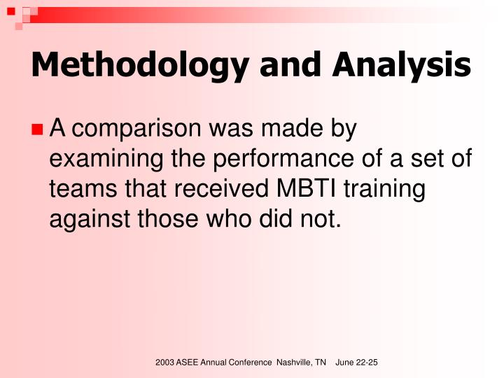 Methodology and Analysis