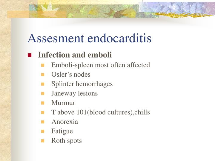 Assesment endocarditis