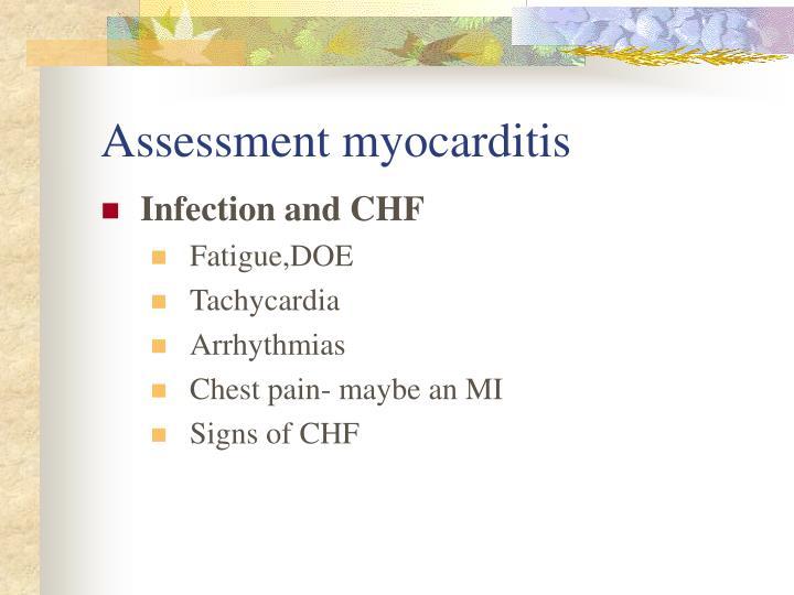 Assessment myocarditis