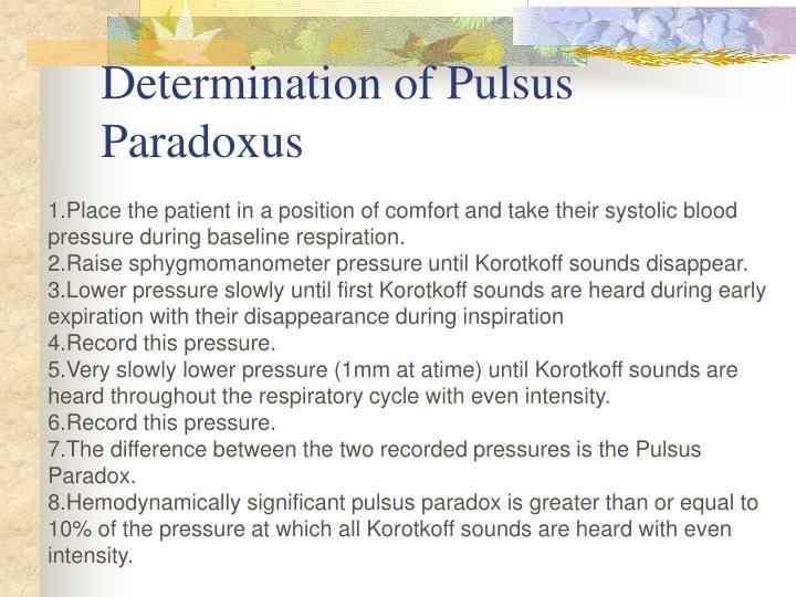 Determination of Pulsus Paradoxus