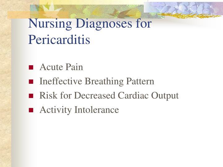 Nursing Diagnoses for Pericarditis