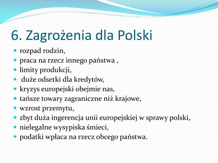 6. Zagrożenia dla Polski