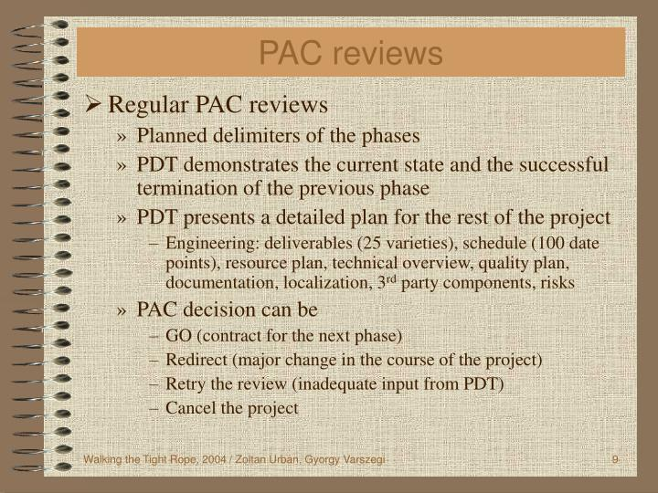 PAC reviews