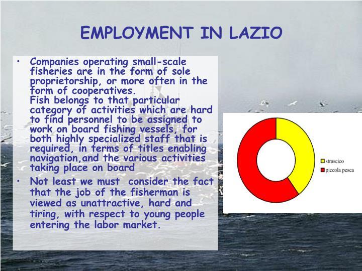 EMPLOYMENT IN LAZIO