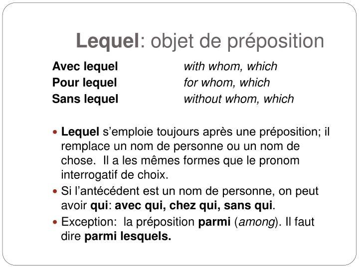 Lequel