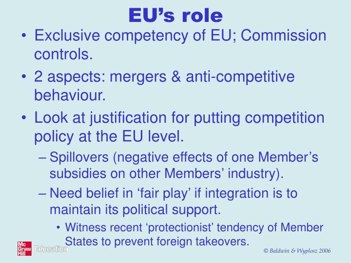 EU's role