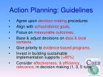 action planning guidelines