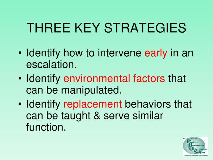 THREE KEY STRATEGIES