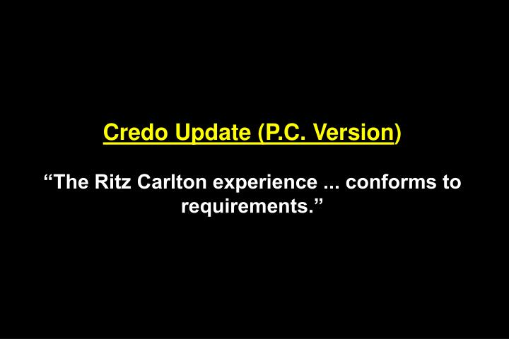Credo Update (P.C. Version