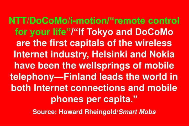 NTT/DoCoMo/i-motion/remote control for your life