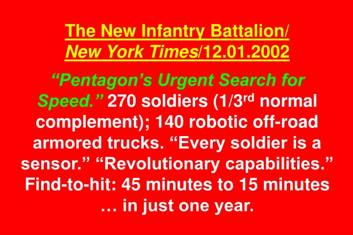 The New Infantry Battalion/