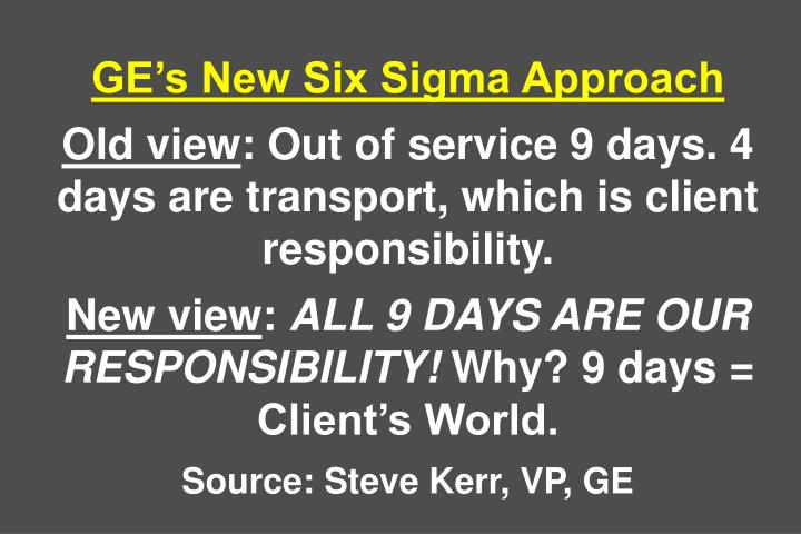 GEs New Six Sigma Approach