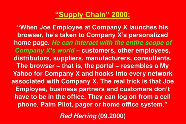 Supply Chain 2000: