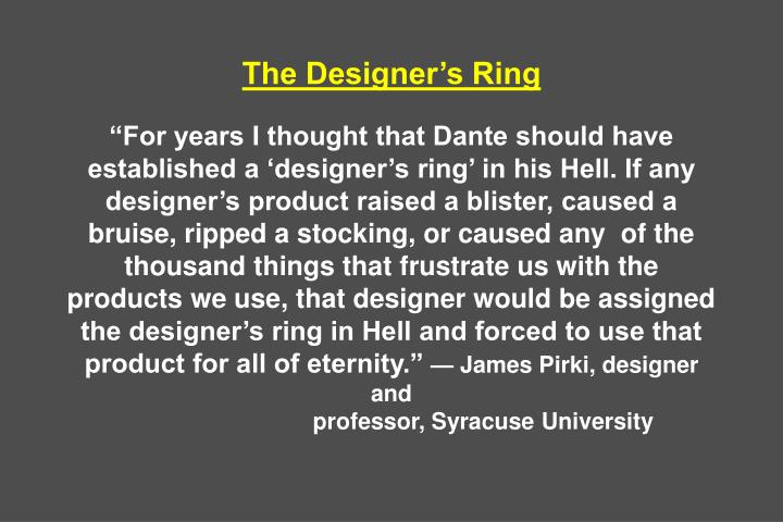 The Designer's Ring