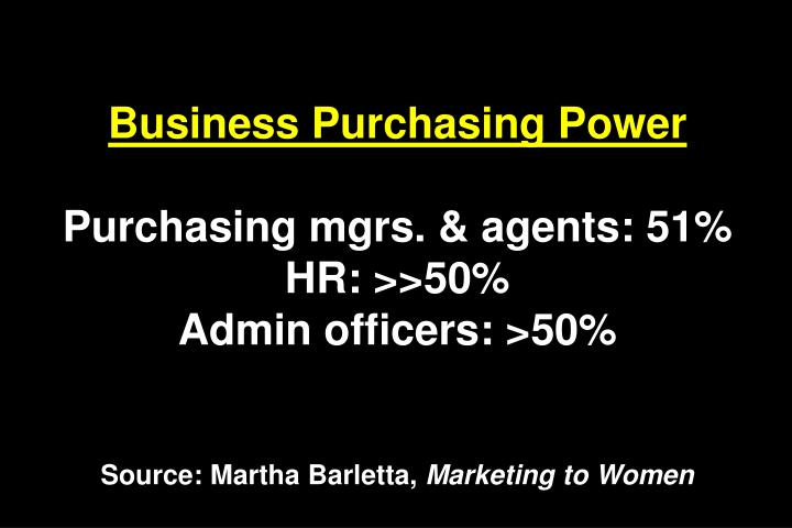 Business Purchasing Power
