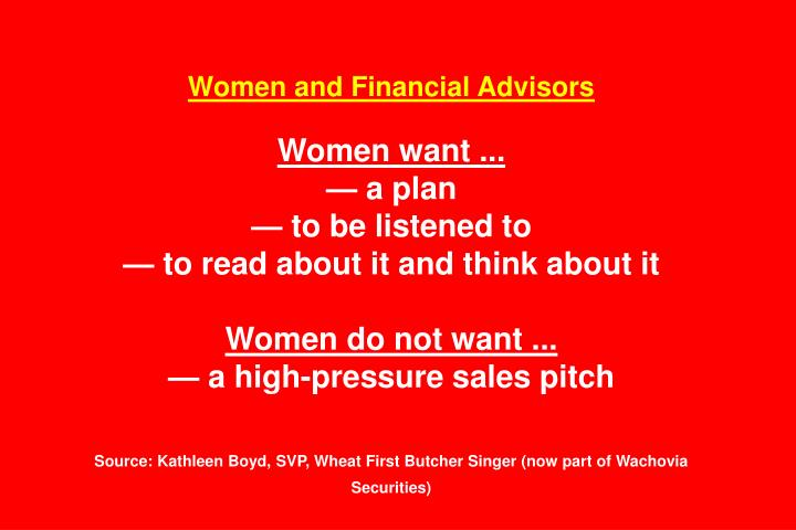 Women and Financial Advisors