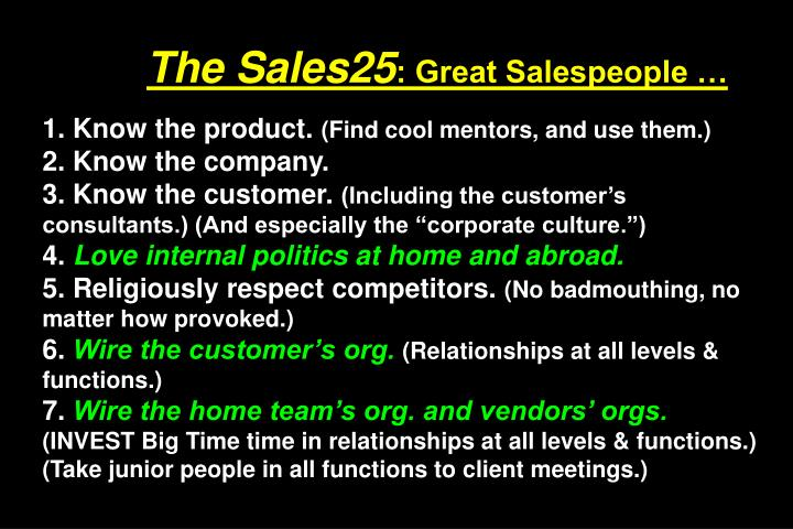 The Sales25