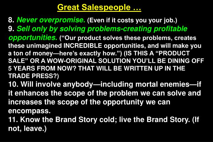 Great Salespeople