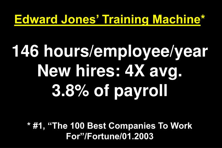 Edward Jones Training Machine