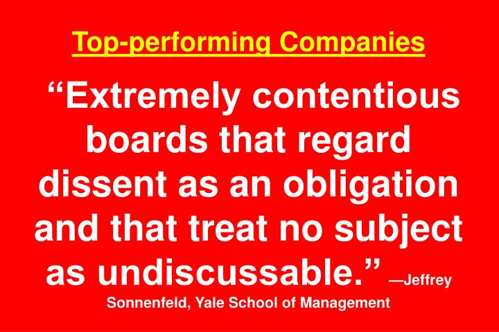 Top-performing Companies