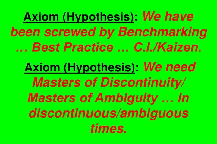 Axiom (Hypothesis)