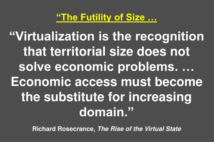 """The Futility of Size …"