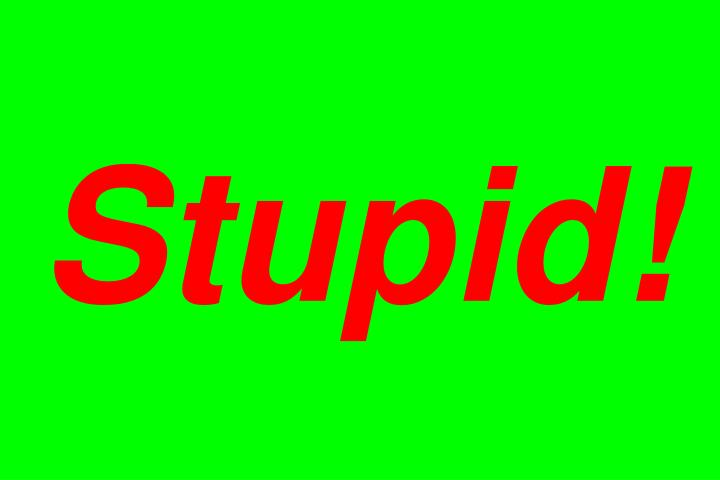 Stupid!
