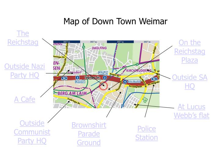 Map of Down Town Weimar