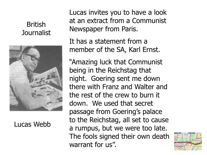 Lucas invites you to have a look at an extract from a Communist Newspaper from Paris.
