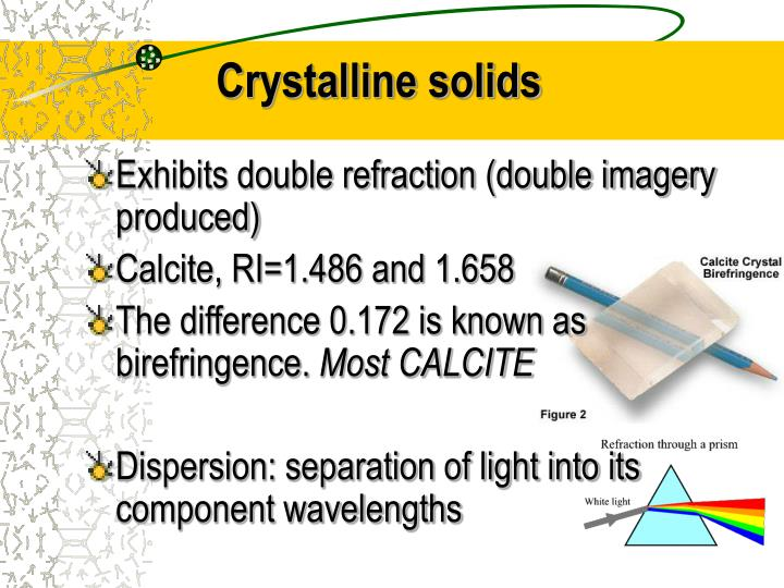 Crystalline solids