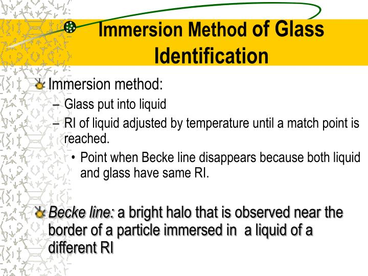 Immersion method: