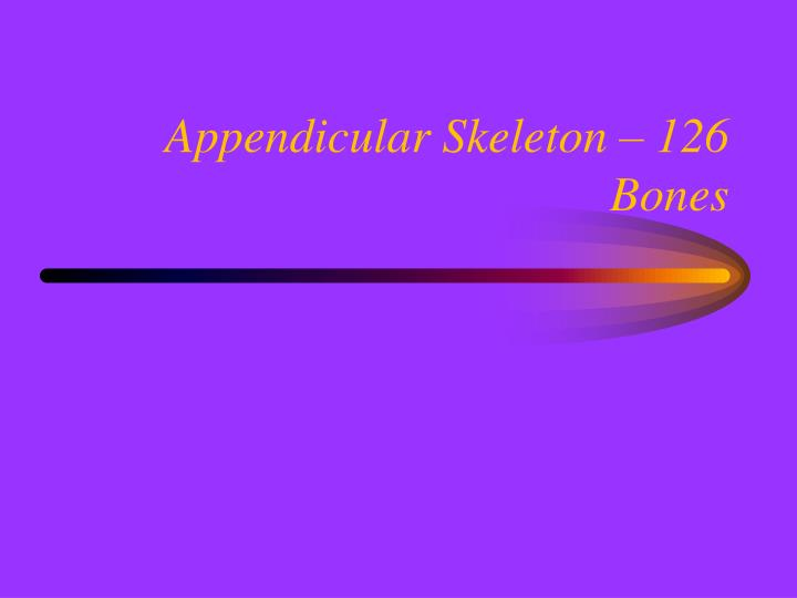 Appendicular Skeleton – 126 Bones