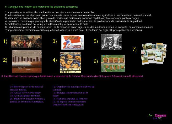 5. Consigue una imagen que represente los siguientes conceptos: