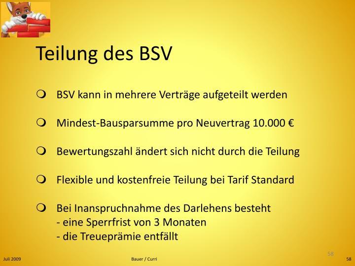 Teilung des BSV