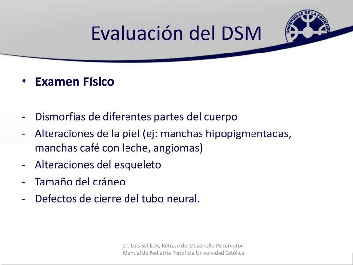 Evaluación del DSM
