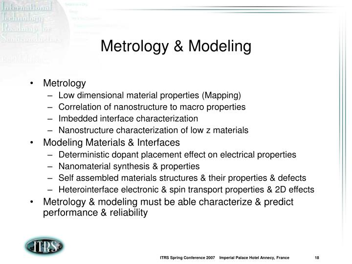Metrology & Modeling