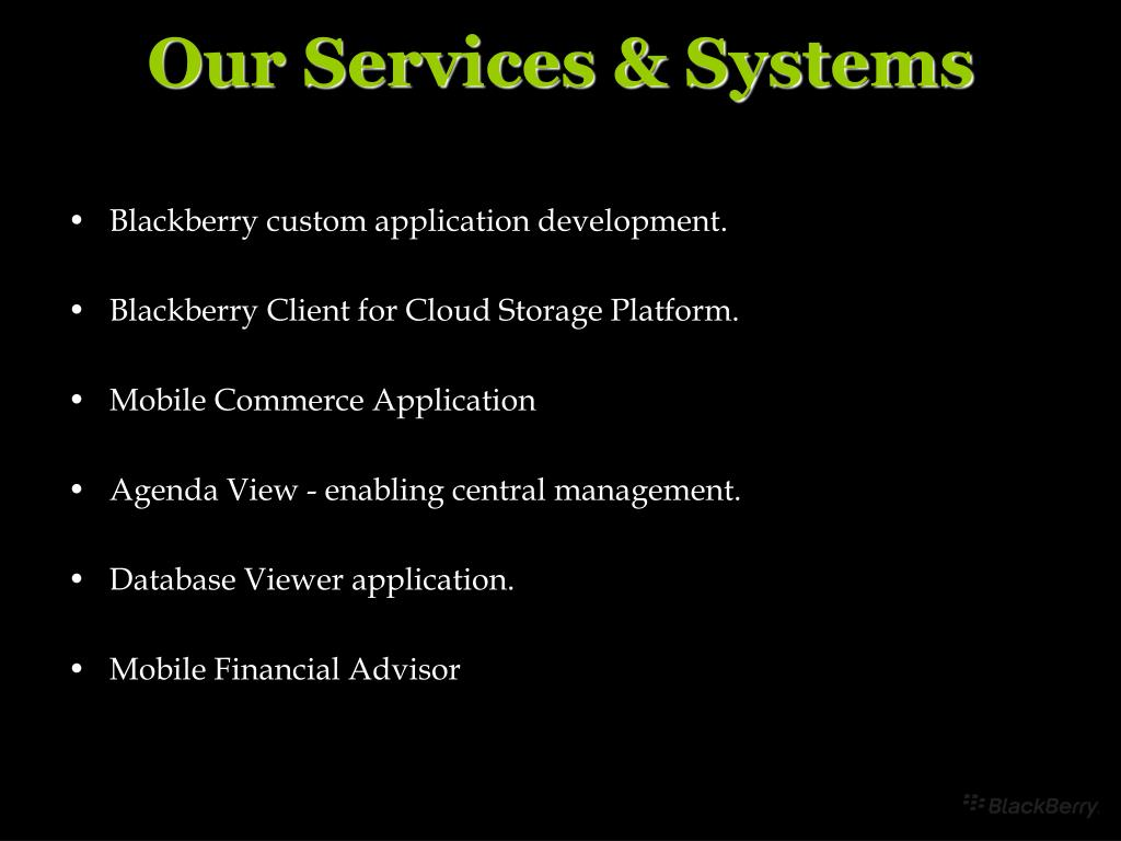 Our Services & Systems