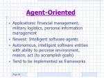 agent oriented