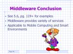 middleware conclusion