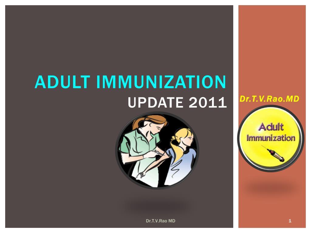 adult immunization update 2011