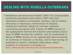 dealing with rubella outbreaks