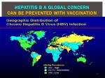 hepatitis b a global concern can be prevented with vaccination