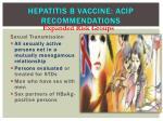 hepatitis b vaccine acip recommendations