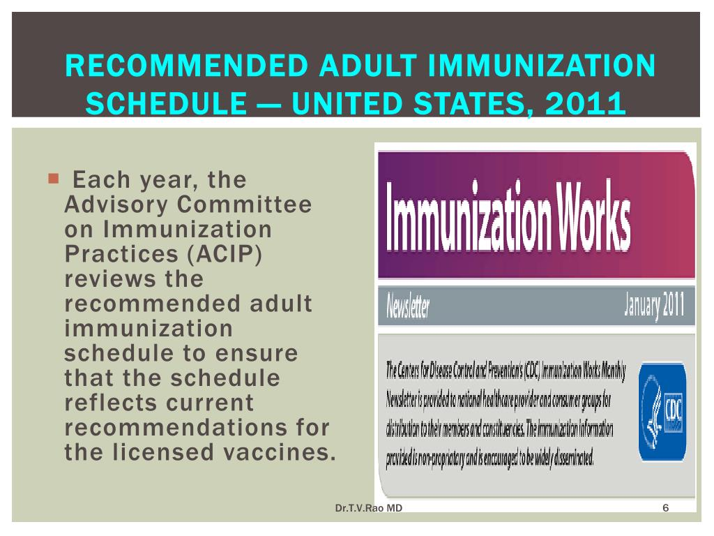 Recommended Adult Immunization Schedule — United States, 2011