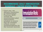 recommended adult immunization schedule united states 2011