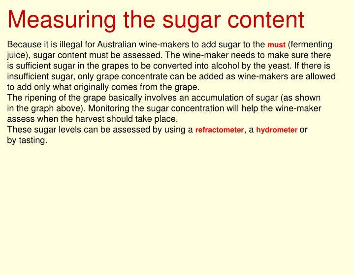Measuring the sugar content