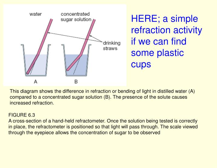 HERE; a simple refraction activity if we can find some plastic cups